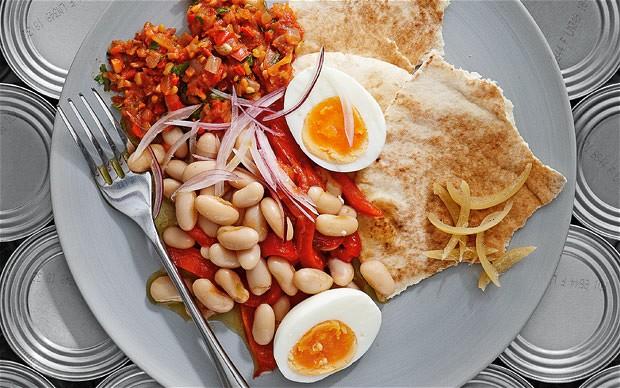 Boiled Beans Egg