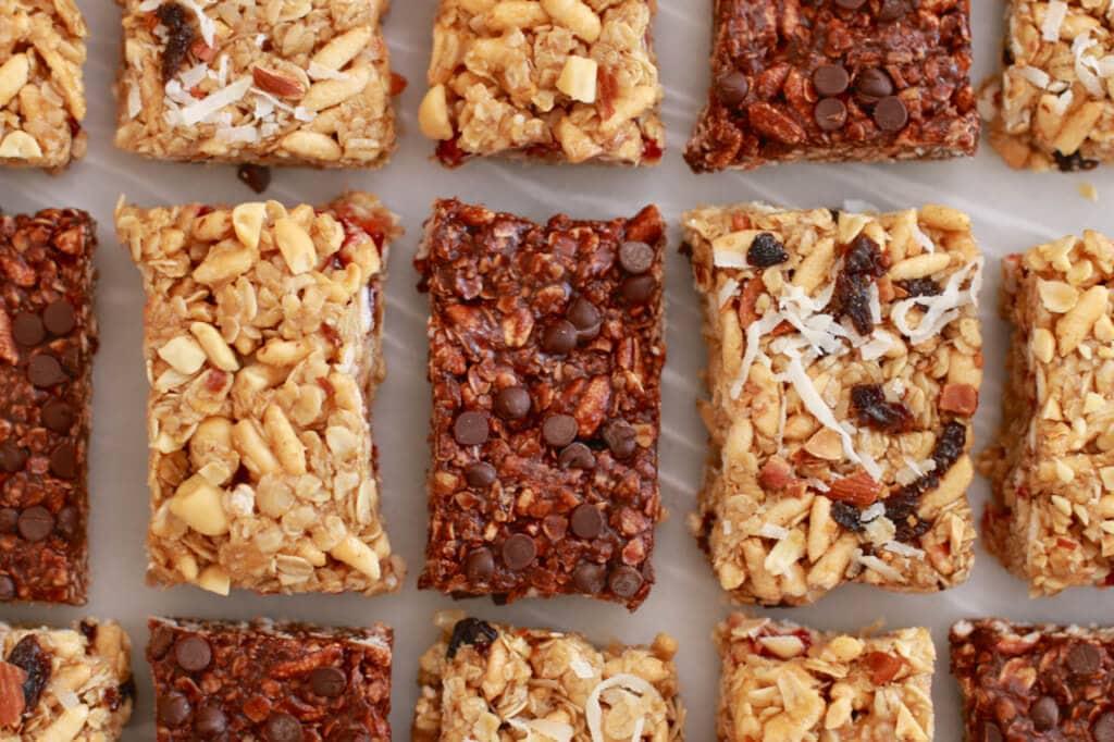 Fruits and nutbutter raisins