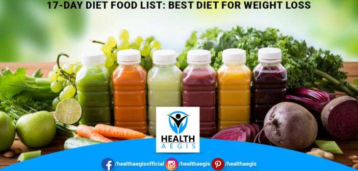 17 Day Diet Food List